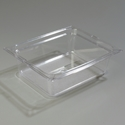 "1/2 Size x 4"" Food Pan, Clear"