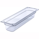 "1/2 Size Long x 4"" Food Pan, Clear"