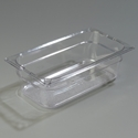 "1/3 Size x 4"" Food Pan, Clear"