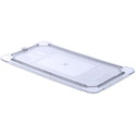 1/3 Size Solid Flat Lid, Clear