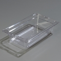 "1/4 Size x 2.5"" Food Pan, Clear"