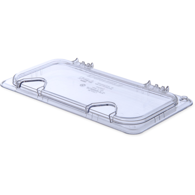 1/3 Size Notched Hinged Lid Clear