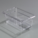 "1/4 Size x 4"" Food Pan, Clear"