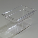 "1/4 Size x 6"" Food Pan, Clear"
