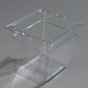 "1/6 Size x 6"" Food Pan, Clear"
