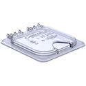 1/6 Size Notched Hinged Lid, Clear