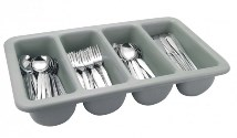 Cutlery Box 4 Compartment Gray