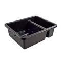 "Tote Box, 22"" x 15"" x 7"", divided, reinforced handles"