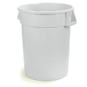 10 gal Trash Container White