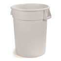 32 gal Trash Container White