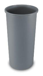 22 gal Round Trash Can Gray