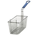 "Fry Basket, Blue Handle, 13 1/4"" x 5 3/4"" x 5 1/4"""