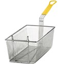 "Fry Basket, Yellow Handle, 17"" x 8 1/4"" x 6"""