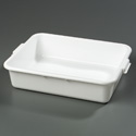 "Bus Tub, White, 20""L x 15""W x 5""H, 1 compartment"