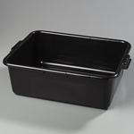 "Bus Tub, Black, 20"" x 15"" x 5"", 1 compartment"