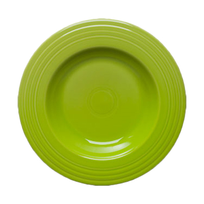 "12"" Rimmed Bowl, Lemongrass"