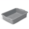20x15x5 Perforated Bus Tub, Gray