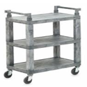Utility Cart, 3 Shelves, Gray