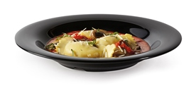 "16 oz. Soup/Pasta Bowl, Black, 11 1/4"" dia. x 1 3/4"" deep"
