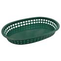 "10.5"" Oval Basket Forest Green"