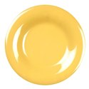 "10-1/2"" dia.Plate wide rim, break-resistant, dishwasher safe, melamine, yellow, NSF"