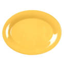 "12"" x 9"" Oval Platter  break-resistant, dishwasher safe, melamine, yellow"