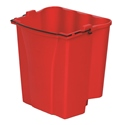 18qt Dirty Mopwater Bucket, Red