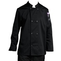 Chef's Coat, Black, Large, double breasted