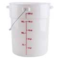Pail with Bail, 22 qt. capacity, natural white