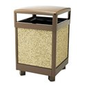 38gl Outdoor Trash Can, Brown