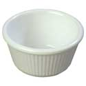 "4 oz. Ramekin, White, fluted, 3-3/8"" dia."