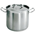 8qt Stock Pot w/Lid Stainless