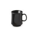 "8 oz. Mug, Black, 3 1/4"" dia. x 3 3/4"" deep"