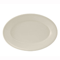 "7"" Platter Oval Wide Rim Rolled edge Reno"